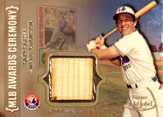 2002 Topps Gold Label MLB Awards Ceremony Relics Titanium #GC Gary Carter RBI Bat
