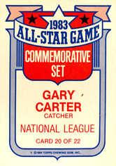 1984 Topps Glossy All-Stars #20 Gary Carter