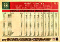 2018 Topps Archives Silver #69 Gary Carter/99