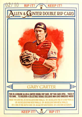 2013 Topps Allen and Ginter Double Rip Cards #RC171 Andre Dawson/Gary Carter/10