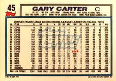1992 Topps #45 Gary Carter