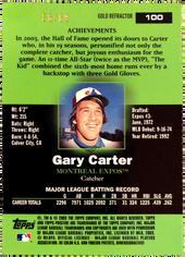 2003 Topps Pristine Gold Refractors #100 Gary Carter/69