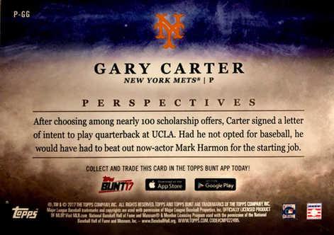 2017 Topps Bunt Perspectives #PGG Gary Carter