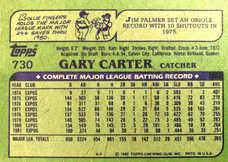 1982 Topps #730 Gary Carter