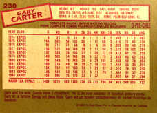 1985 O-Pee-Chee #230 Gary Carter/Traded to Mets 12-10-84
