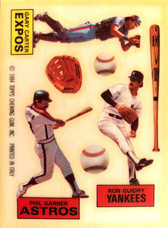 1984 Topps Rub Downs #11 Gary Carter/Phil Garner/Ron Guidry