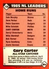 1986 Topps Tiffany #708 Gary Carter AS