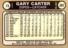 1981 Fleer Star Stickers #73 Gary Carter