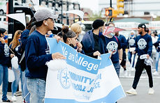 Students marching at our annual College March.