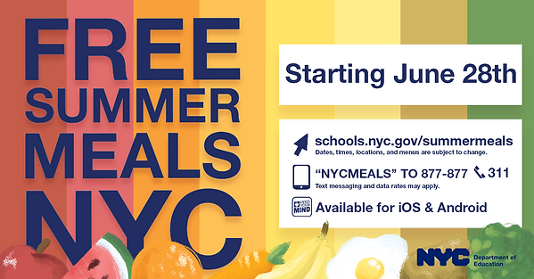 Free Summer Meals NYC Flyer