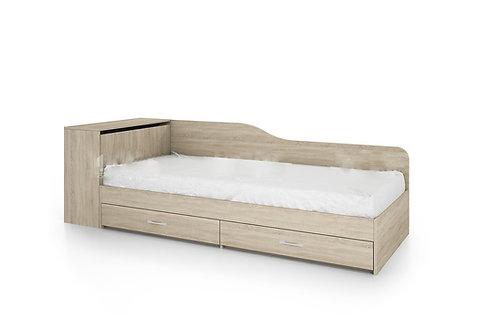 Единично легло с чекмеджета и включен матрак