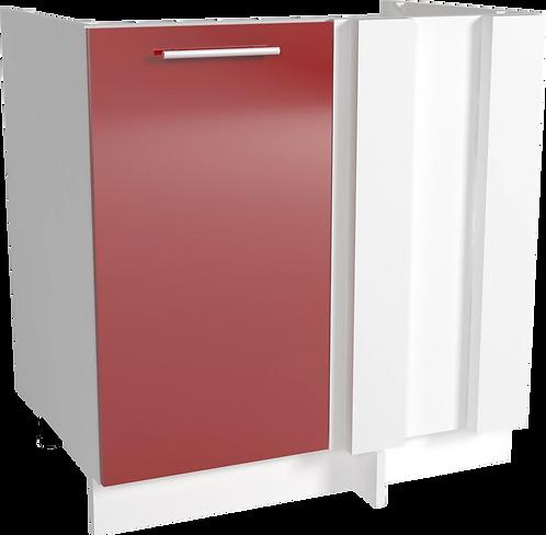 Tracy H80 ъглов шкаф червен лак