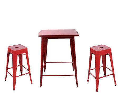 Комплект бар маса + 4 стола - RED