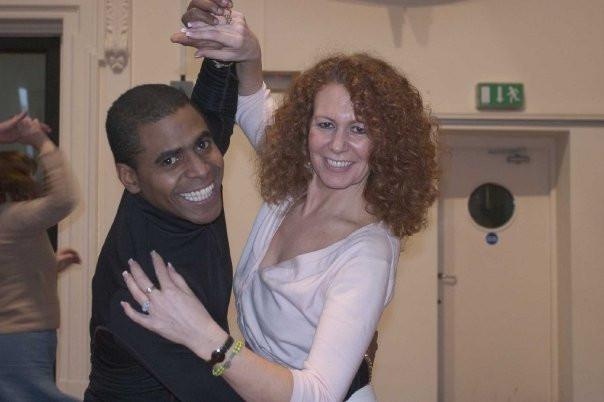 Sue & Juan in the class at Instituto Cervantes, Manchester