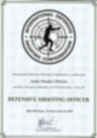 Certificado Curso Defendive Shooting Off