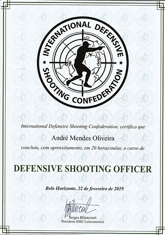 Certificado Curso Defendive Shooting Off
