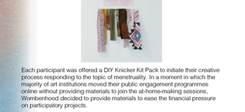 The DIY Knicker Kit Project Exhibition Pamphlet Page 11