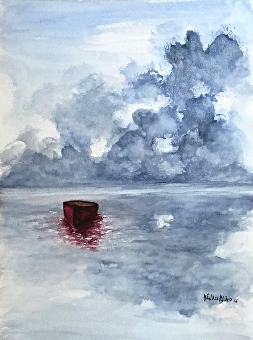 Watercolour Landscape, Marine, Reflections art painting