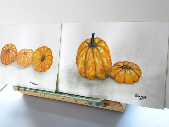 pumpkins painting
