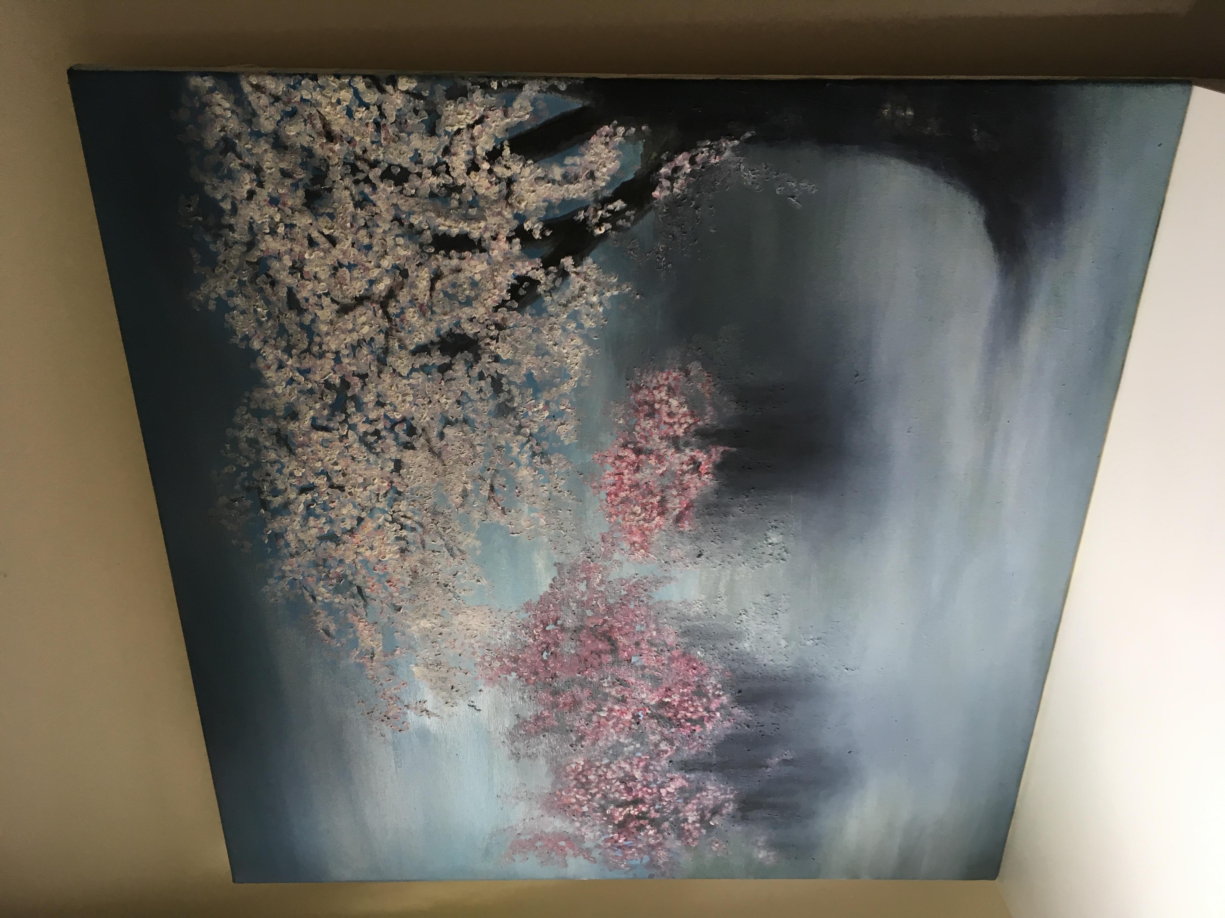 painting in studio