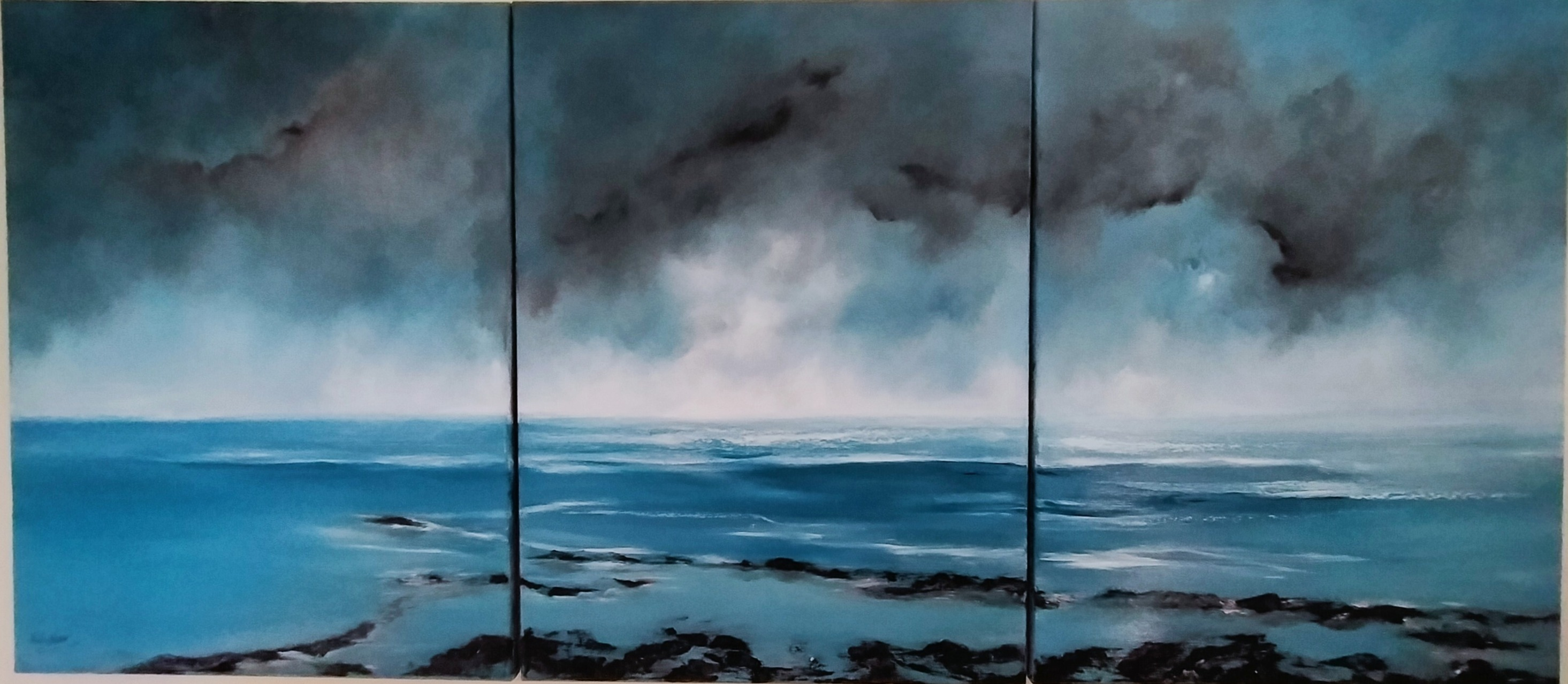 Seascape painting South Coast uk