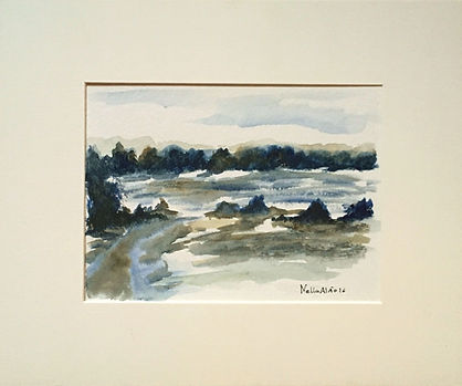 Original artOriginal art painting Watercolour winter Landscape