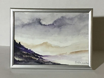 beautiful painting watercolour landscapes, isle of skye landscape, isle of skye paiting, isle of skye landscape painting, scotish landscape painting, originalpainting of isle of skye, affordable gifts, affordable christmas gifts, affordable original presents, affordable original gifts,