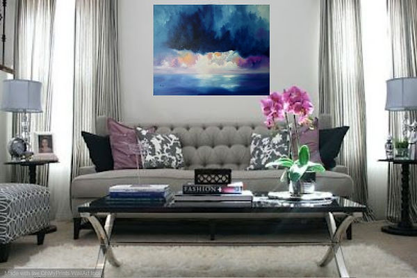 luxury interior design living room, painting on wall luxury interior design, best paintings for a luxury home, sophisticated painting, sophisticated landscape painting, storm in beach, storm in beach painting, abstract seascape oil painting,