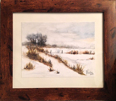 Times of Winter, snow scenes, landscape, original watercolor painting, framed, ready to hang, original painting, contemporary, beautiful decor, house decor, landscape lake district, peak district, yorkshire, uk