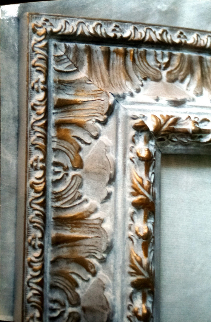 detail of the frame decorated
