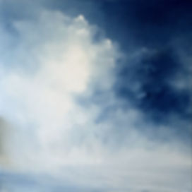 clouds in sky,sky and sea, seascape painting, contemporary seascpe painting, stormy sky, blue sky, blue and white painting, stormy sky, storm on sea, seascape oil painting, mist, fog,