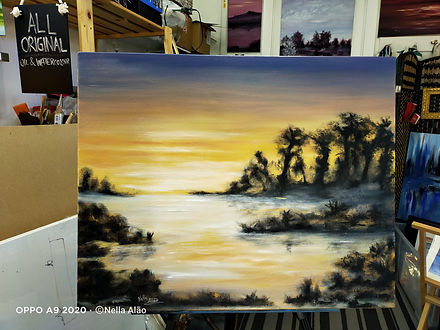 Dawn oil painting