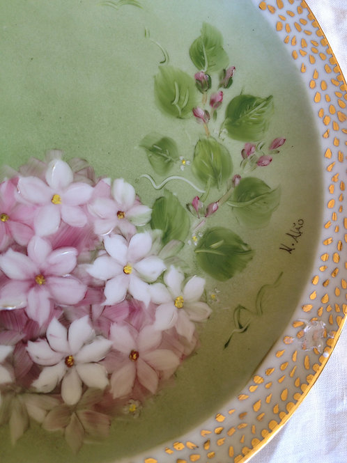 Forget me not, Bone Fine China Plate
