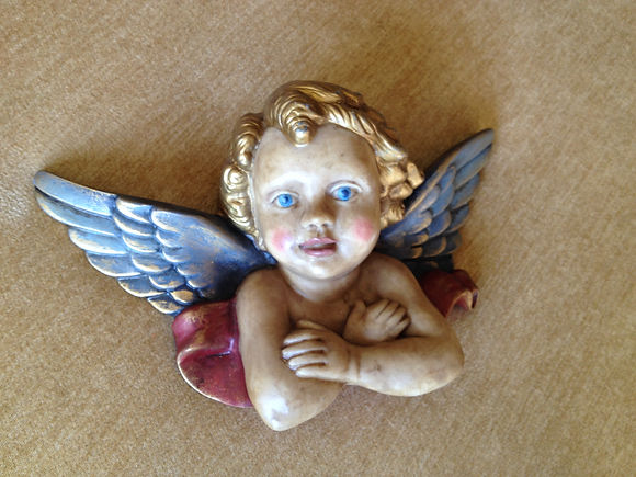 Hand painted Angel resin's stone