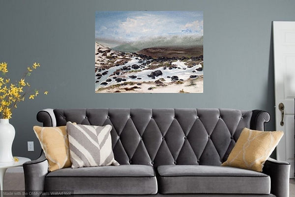 beautiful landscape of Yorkshire moors ilkley end of winter snow mountain moors dales