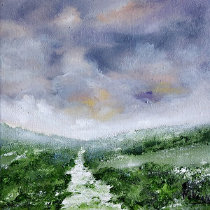 oil painting, original, Christmas presents, winter landscape, sussex, countryside, english, u.k., sky, dramatic, winter sky, best painting, art for sale, art for sale online, best art for sale, snow, frost, sussx artist, english art, best english art, contemporary