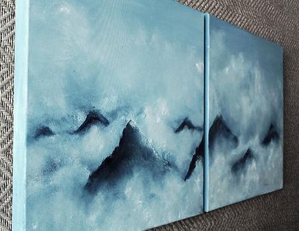 mountain sky clouds blue white buy art online artist painter