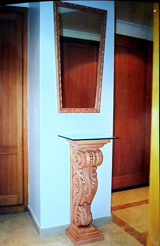 set mirror column hand finished decorate