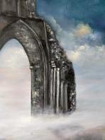 mist surrounding the ruins