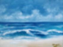 Winter Sea , waves crash shore, beach, ocean, sussex, waves, blue, white, clous, seascape, contemporary art, dramatic , beautiful, unique