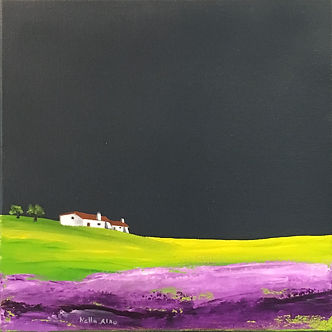 countryside landscape picture, painting landscape coutryside, field lavender, landscape with lavender, vibrant paintings, buy original paintings, buy artwork online, art for sale online, buy original brithish art, canvas oil paintings for sale, original paintings for sale, paintings for sale uk, contemporary artist,