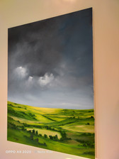 painting in the studio