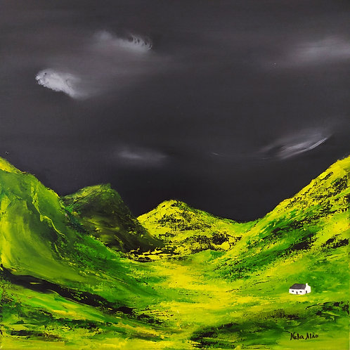 On way in the Highlands, oil on canvas original painting