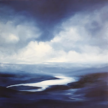 Original contemporary painting oil on canvas Sei abstract dramatic original fantastic fine art valley of the silence beautiful and relaxing