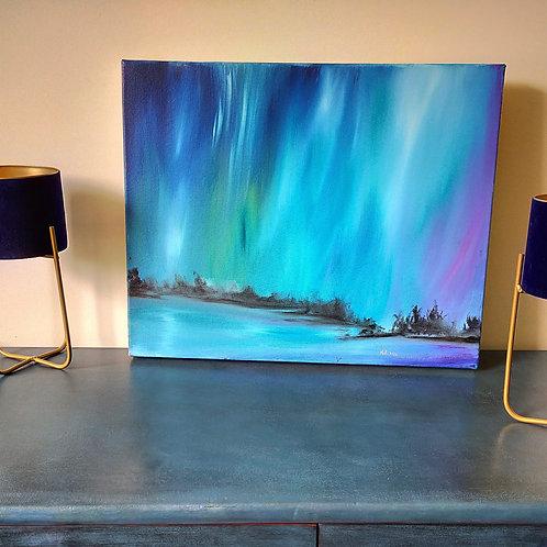 Northern Lights, oil on deep canvas