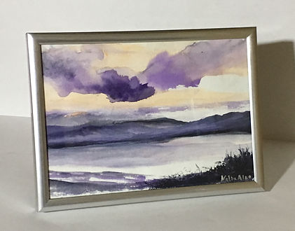 winter landscape, highlands landscape painting, beautiful watercolour landscapes, watercolour paintings purple, scotish watercolour landscapes, english watercolours paintings, beautiful gifts, christmas gifts ideas, christmas original and cheap gifts, original presents, paintings to gifts, lake and mountain landscape, purple clouds painting,