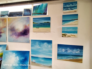 seascape paintings in Nella Alao Studio Blackboys East Sussex art for sale affordable prices buy direct from artist studio Blackboys Inn visit the studio beautiful art paintings gallery best fine art home decor decoration
