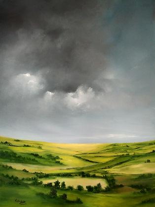 English landscape warm summer