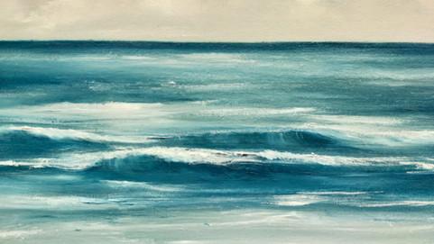 a cor do mar mais próxima do real
