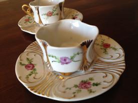 Set 2  finest porcelaine hand painted